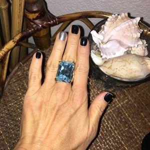🎀5/$25🎀 NORDSTROM Aqua Cocktail Ring Size 6